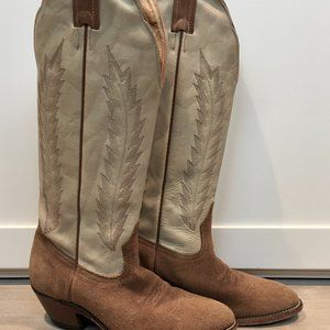 Boulet Canada Cowgirl Suede & Leather Boots